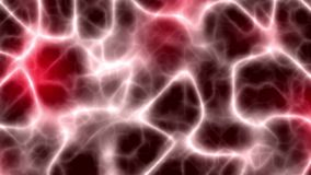 Neuronas que forman una red neuronal roja ilustración del vector