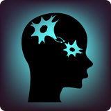 Neuronen Royalty-vrije Stock Afbeelding