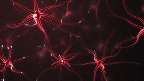 Neuronen die een neuraal netwerk vormen royalty-vrije illustratie