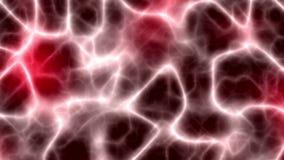 Neuronen die een neuraal netwerkrood vormen vector illustratie