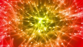 Neuronen die en nieuwe verbindingen in kunstmatige intelligentie in brand steken vormen - AI- netwerknetwerk royalty-vrije illustratie