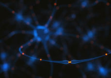 Neuronen Elektroimpulsen royalty-vrije illustratie
