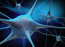 Neuronen en neurale verbinding Royalty-vrije Stock Foto