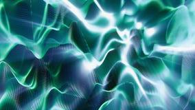 Neuronen en synapsen die in een kunstmatige intelligentie in brand steken stock illustratie