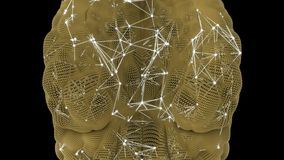 Neuronenactiviteit in de menselijke hersenen stock illustratie