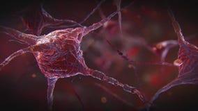 Neuronenimpuls stock illustratie
