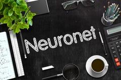 Neuronet manuscrit sur le tableau noir rendu 3d Photographie stock libre de droits