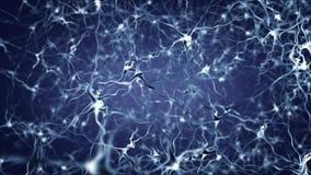 Neuronnätverksaktivitet royaltyfri illustrationer