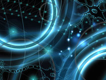 Neurons abstract background. Biology and thoughts Stock Photos