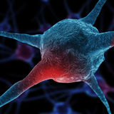 Neurons abstract background Royalty Free Stock Photos