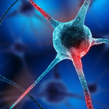 Neurons abstract background. Close up stock image