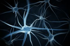 Neurons abstract background. 3d render Royalty Free Stock Photo