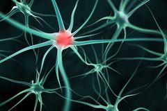 Neurons abstract background. 3d render Stock Photography