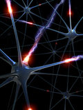 Neurons (The brainstorm) Stock Images
