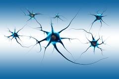 Neurons. 3D digital illustration neurons background Stock Illustration