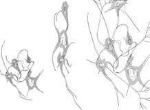 _Neurons della siluetta immagine stock