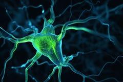 Neurons gör sammandrag bakgrund stock illustrationer
