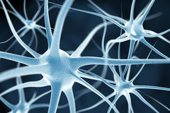 Neurons gör sammandrag bakgrund royaltyfri illustrationer