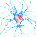 Neurons gör sammandrag bakgrund vektor illustrationer