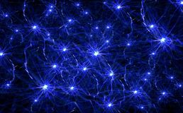 Neurons Illustration Royalty Free Stock Photos