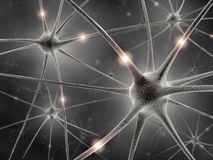 Neurons The power of the mind Royalty Free Stock Photo