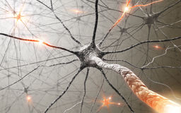 Neurons The power of the mind royalty free illustration