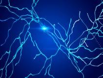 Neurons, synapses, neural network circuit of neurons, brain, degenerative diseases, Parkinson. Alzheimer Stock Photography