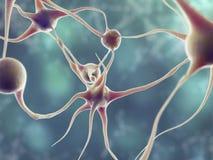 Neuronu 3d modela ilustracja ilustracji