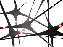 Neurony, synapses móżdżkowa komunikacja, royalty ilustracja