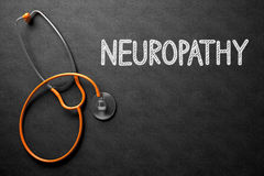 Neuropathy on Chalkboard. 3D Illustration. Royalty Free Stock Images