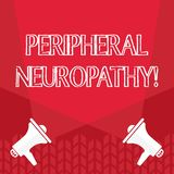 Neuropathy f?r kringutrustning f?r ordhandstiltext Aff?rsid? f?r villkoret eller sjukdomen som p?verkar det perifer nervmellanrum vektor illustrationer