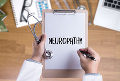 NEUROPATHY  Medical  Doctor concept , Neuropathy Wording in Anam Royalty Free Stock Photos