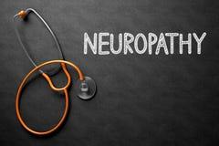 Neuropathy på den svart tavlan illustration 3d Royaltyfria Bilder