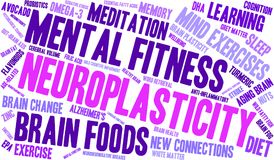 Neuroplasticity Word Cloud. On a white background Stock Photo