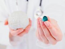 Neuropsychiatric roborating capsule Stock Foto's