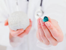 Neuropsychiatric roborating capsule Stock Photos