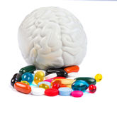 Neuropsychiatric roborating pills Stock Images