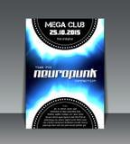Neuropunk party flyer Stock Photography