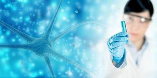Neuroscience background Stock Photo