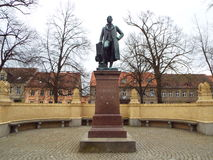 Neuruppin: The Schinkel Monument. The architect Karl Friedrich Schinkel was born in Neuruppin. Germany 13.04.2016 Stock Photography