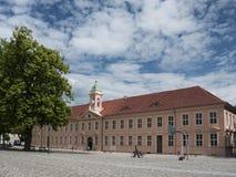 Neuruppin-Schulplatz-Altes Gymnasium Royalty Free Stock Photography