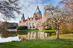 Neus Rathaus Hannover. The New Town  City Hall Royalty Free Stock Images