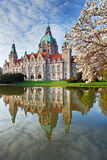 Neus Rathaus Hannover. The New Town  City Hall Royalty Free Stock Image