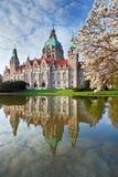 Neus Rathaus Hannover Immagine Stock Libera da Diritti