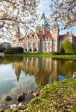 Neus Rathaus Hanover, Stock Afbeelding