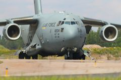 Neus van Boeing C17 Globemaster stock foto