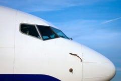 Neus van een Vliegtuig stock afbeelding