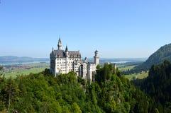 Neuschwanstein城堡在巴伐利亚,德国 免版税库存图片