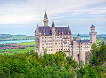 Neuschwanstein – The Fairytale Castle. Neuschwanstein, the fairytale castle of King Ludwig II, located in Bavaria, Germany royalty free stock image