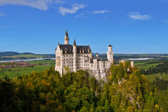 Neuschwanstein. Beautiful neuschwanstein castle in bavaria, germany stock images